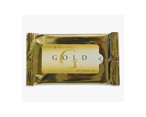 ヒアルロン酸配合ゴールドウェットティッシュ〔10枚入り〕既製品