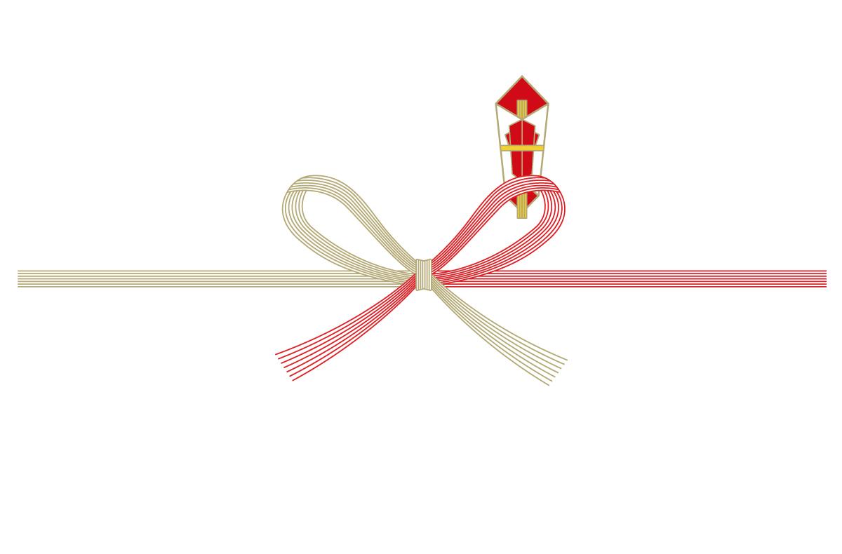 ちょう結びの熨斗(のし)紙