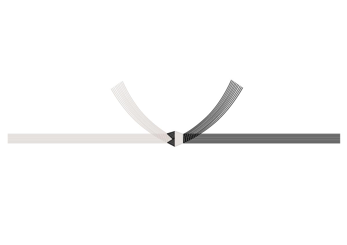 結び切り(黒白)の熨斗(のし)紙