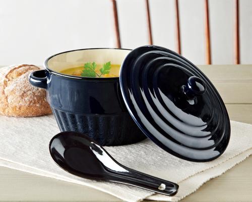 ブランジェリーメール・蓋付きスープカップ(スプーン付き)