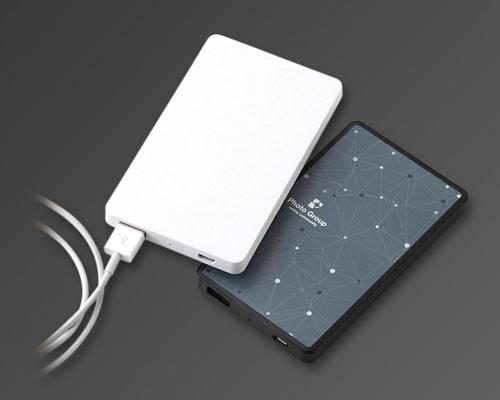 185411-298 モバイルバッテリー4000(フラット)(ホワイト)